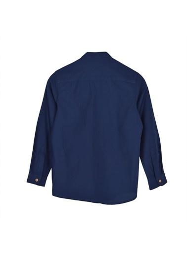 Silversun Kids Uzun Kol Cepli Önden Düğmeli Klasik Erkek Çocuk Gömlek Gc 316331 Lacivert
